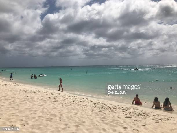 Eagle Beach, Aruba on June 16, 2018.