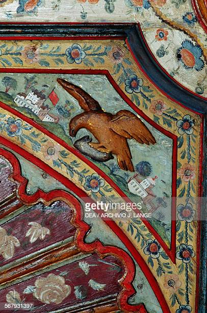Eagle decorated wooden ceiling Palace of the Rais or Bastion 23 Algiers Algeria 16th18th century