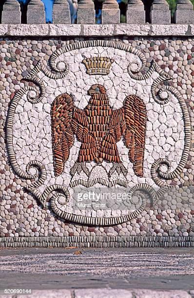 Eagle emblem on a wall