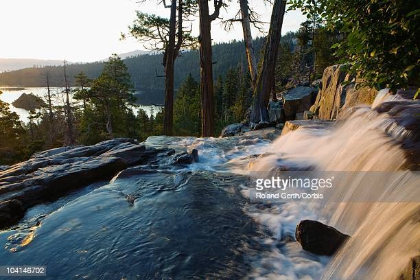 eagle falls above emerald bay - public domain stock pictures, royalty-free photos & images