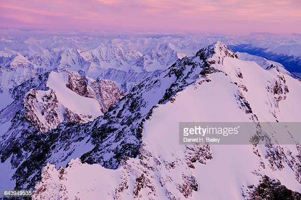 eagle peak and the chugach mountains, alaska - chugach mountains stock pictures, royalty-free photos & images