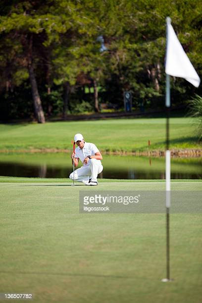 eagle putt - eagle golf stock photos and pictures