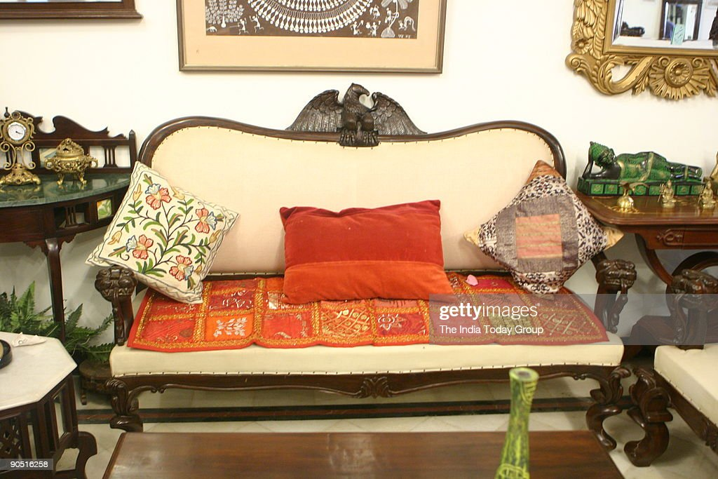 Eagle Sofa At Esthetix, A Period Furniture Store In Hauz Khas.