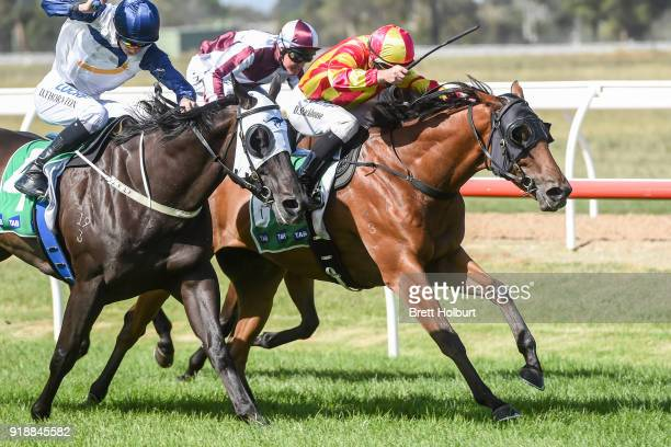 Eagle Spirit ridden by Daniel Stackhouse wins the Werribee Car Wash BM58 Handicap at Werribee Racecourse on February 16 2018 in Werribee Australia