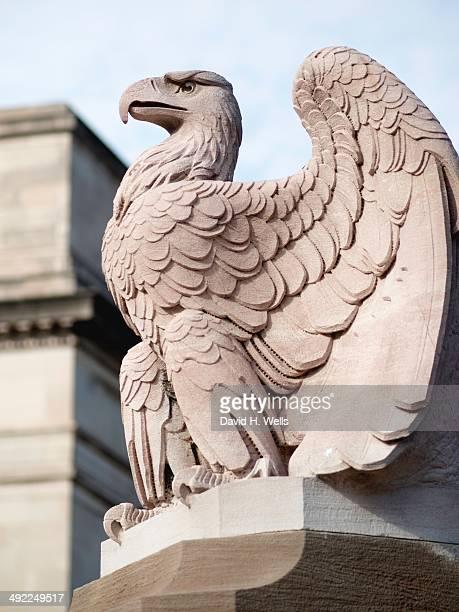 Eagle statue near train station