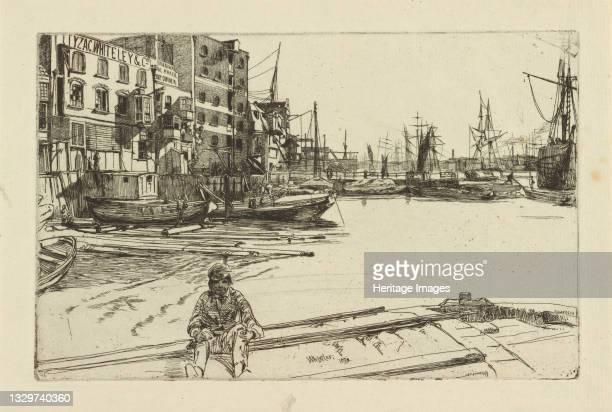 Eagle Wharf , 1859. Artist James Abbott McNeill Whistler.