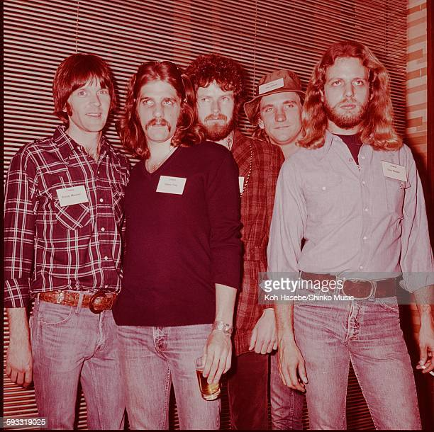 Eagles at Press conference Tokyo February 1976
