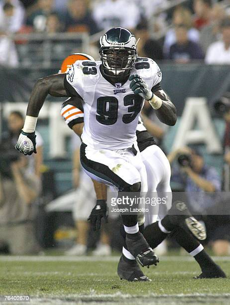 Eagles defensive end Jevon Kearse during the preseason game between the Philadelphia Eagles and the Cleveland Browns at Lincoln Financial Field in...