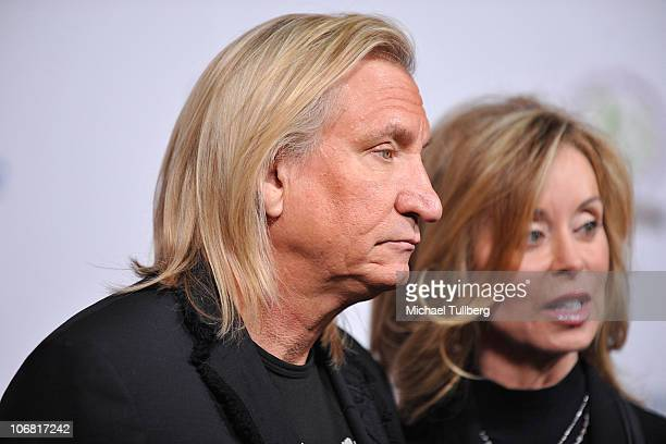 Eagles guitarist Joe Walsh arrives with wife Marjorie Bach at the International Myeloma Foundation's 4th Annual Comedy Celebration on November 13...