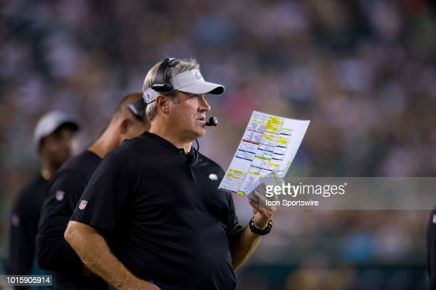 Eagles Head Coach Doug Pederson calls a play from the sidelines during the NFL  Preseason game 3889f7466