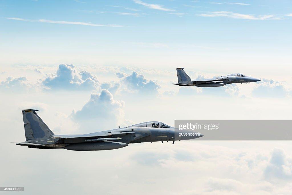 F-15 Eagles in Flight : Stock Photo