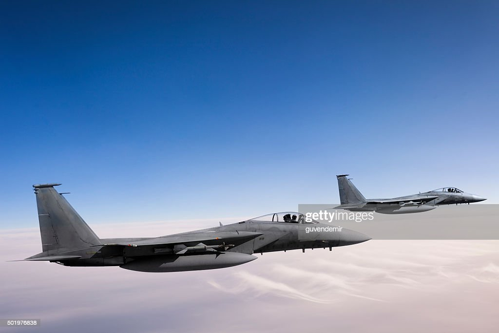 F-15 Eagles in Flight : Stock Photo