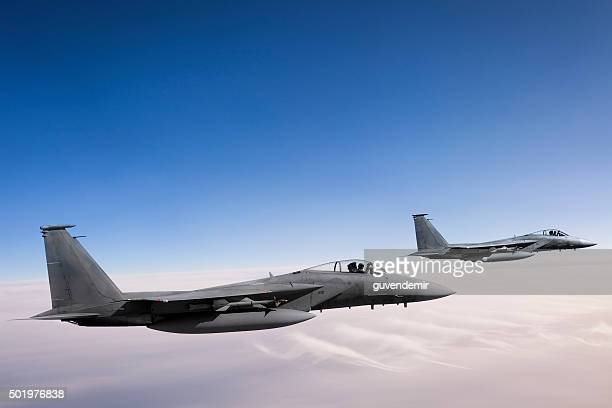 F-15 Eagles in Flight
