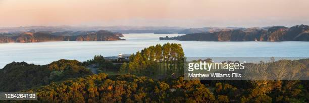 Eagles Nest and the Bay of Islands, Russell, Northland Region, North Island, New Zealand.