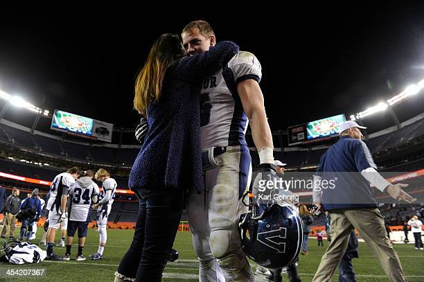 Eagles' running back Christian McCaffrey got a hug and kiss from his mother Lisa after the game The Valor Christian football team rolled past...