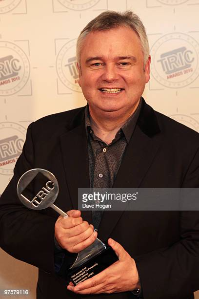 Eamon Holmes poses with his Digital TV Personality award in the press room at the TRIC Awards 2010 held at The Grosvenor House Hotel on March 9 2010...