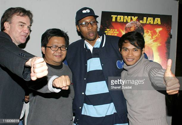 Eamonn Bowles president of Magnolia Pictures Prachya Pinkaew director Rza and Tony Jaa