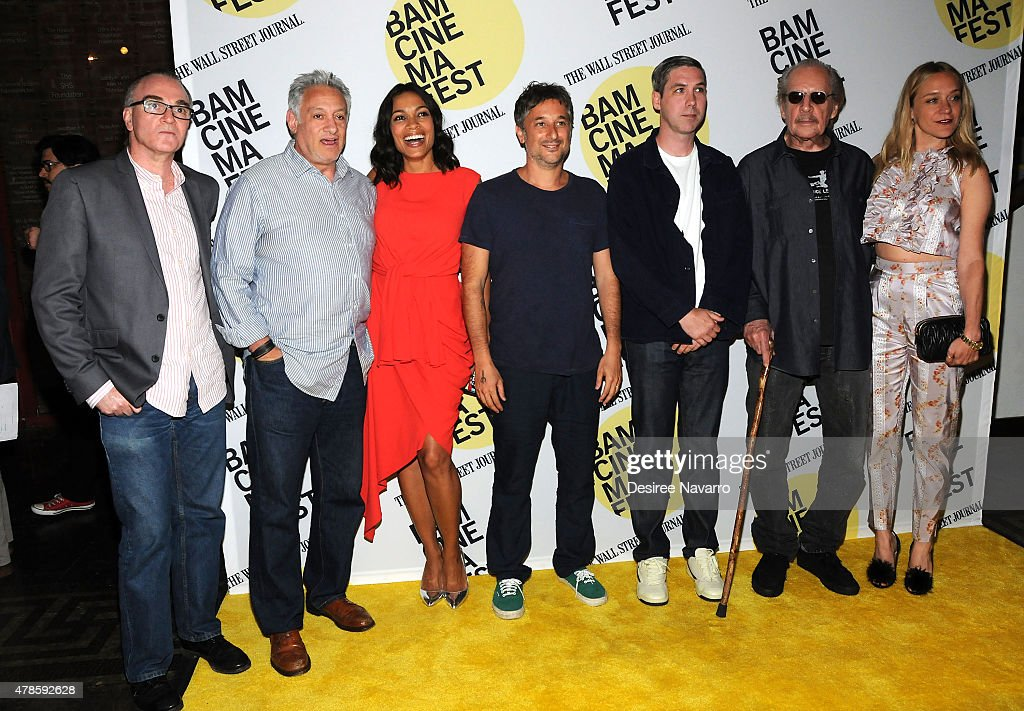 Eamonn Bowles, producer Cary Woods, actress Rosario Dawson, Harmony Korine, Leo Fitzpatrick, director Larry Clark and Chloe Sevigny attend BAMcinemaFest 2015 'Kids' 20th Anniversary Screening at BAM Peter Jay Sharp Building on June 25, 2015 in New York City.