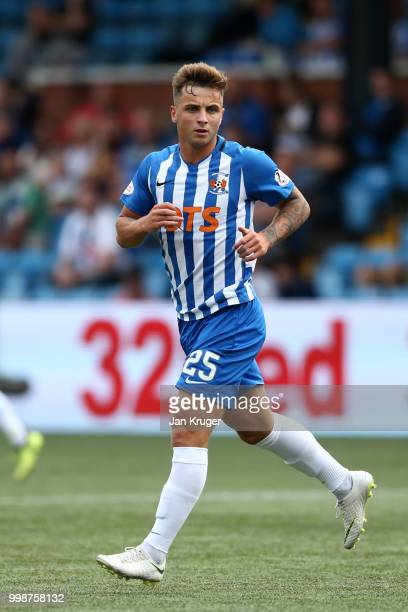 Eamonn Brophy of Kilmarnock FC during the Betfred Scottish League Cup match between Kilmarnock and St Mirren at Rugby Park on July 13 2018 in...
