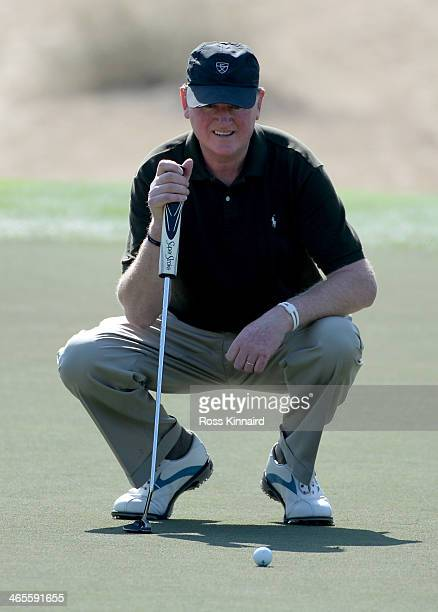 Eamonn Darcy of Ireland during the Champions Challenge prior to the Omega Dubai Desert Classic on the Majlis Course on January 28 2014 in Dubai...