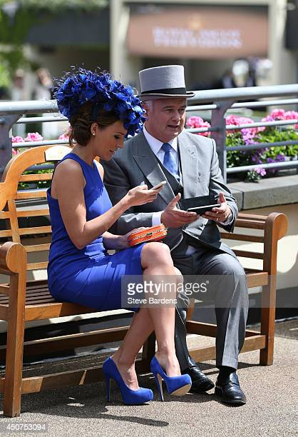 Eamonn Holmes and Isabel Webster attend day one of Royal Ascot at Ascot Racecourse on June 17 2014 in Ascot England