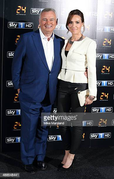 Eamonn Holmes and Isabel Webster attend the UK premiere of 24 Live Another Day at Old Billingsgate Market on May 6 2014 in London England