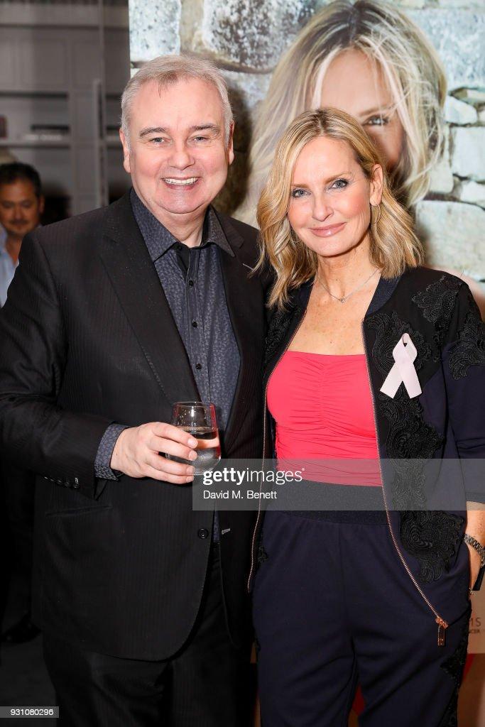 Eamonn Holmes and Jacquie Beltrao attend an exclusive dinner hosted by Melissa Odabash, Amoena and Future Dreams to celebrate the launch of their 2018 pocketed swimwear collection at Grace Belgravia on March 12, 2018 in London, England.