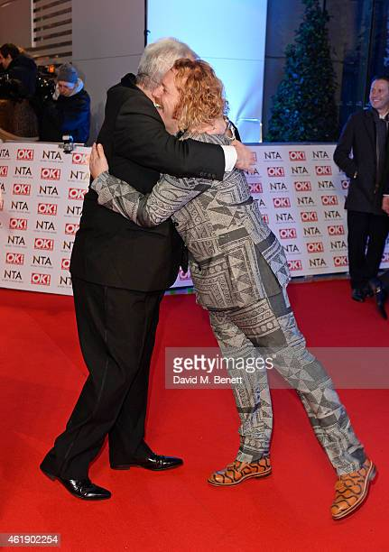Eamonn Holmes and Leigh Francis aka Keith Lemon attend the National Television Awards at 02 Arena on January 21 2015 in London England
