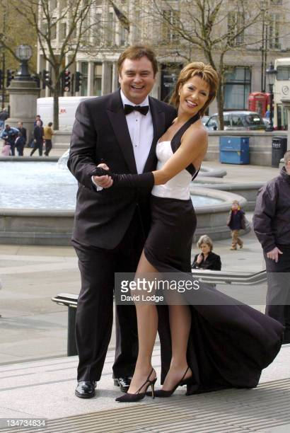 Eamonn Holmes and Natasha Kaplinsky during 'A Party to Remember Live from Trafalgar Square' 60th Anniversary of VE Day Launch at Trafalgar Square in...