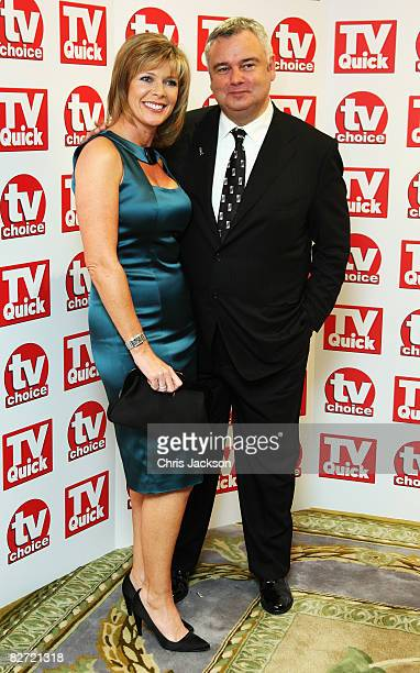 Eamonn Holmes and Ruth Langsford arrive at the TV Quick and TV Choice Awards at the Dorchester on September 8 2008 in London England