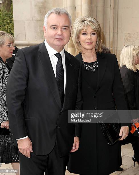 Eamonn Holmes and Ruth Langsford attend a memorial service for the late Sir Terry Wogan at Westminster Abbey on September 27 2016 in London England