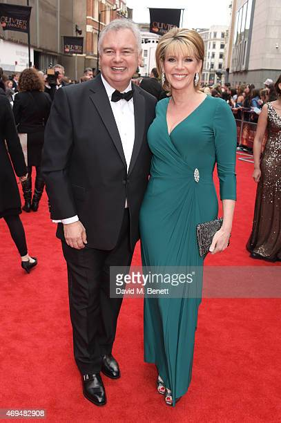 Eamonn Holmes and Ruth Langsford attend The Olivier Awards at The Royal Opera House on April 12 2015 in London England