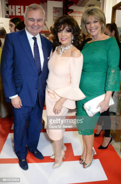 Eamonn Holmes Dame Joan Collins and Ruth Langsford attend Hello Magazine's 30th anniversary party at Dover Street Market on May 9 2018 in London...