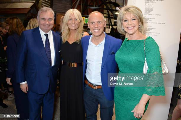 Eamonn Holmes Gaby Roslin Robert Rinder aka Judge Rinder and Ruth Langsford attend Hello Magazine's 30th anniversary party at Dover Street Market on...