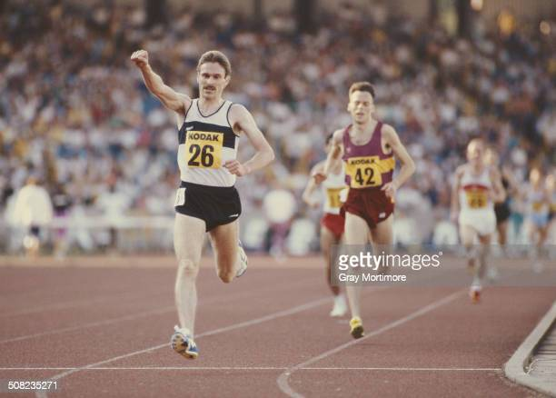 Eamonn Martin of the Basildon Athletics Club and Great Britain wins the Great Britain Olympic Trials10000 metres race on 7 August 1988 Alexander...