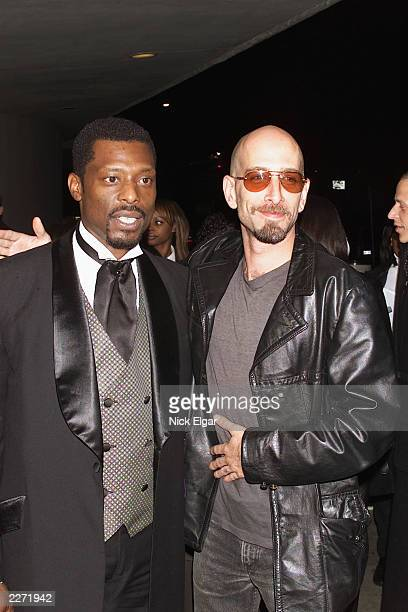 Eamonn Walker Dominic Chianese Jr arriving at the New York Premiere of 'Once In The Life' written and directed by Laurence Fishburne 10/17/00