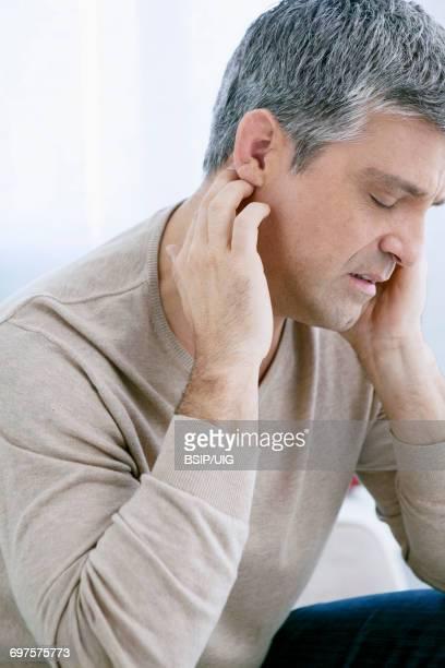 Ear pain in a man