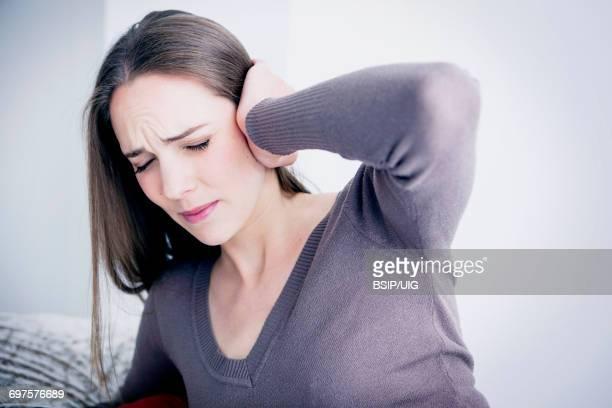Ear pain in a woman
