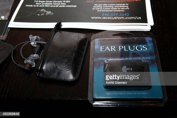 ACS ear plugs are displayed during The Hearing Health
