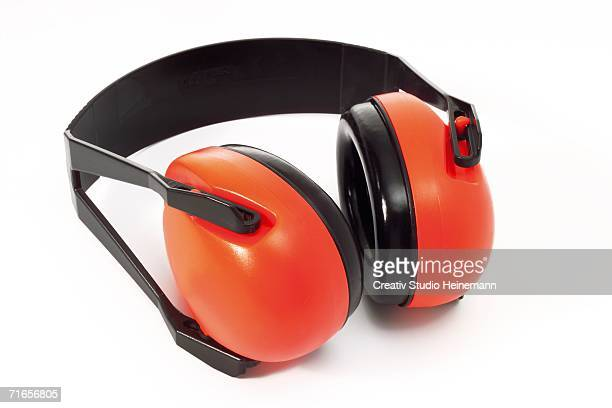 ear protectors, close-up - ear protection stock pictures, royalty-free photos & images