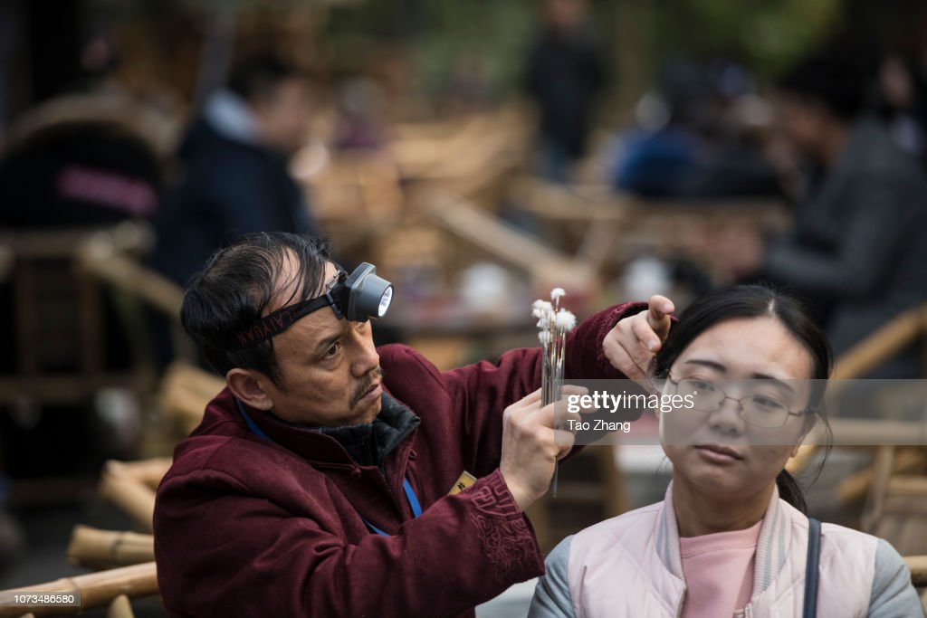 CHN: Traditional Ear Cleaning In Chengdu Of China