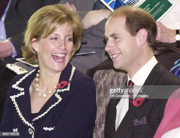 Earl and Countess of Wessex enjoy a swimming display at the official opening of the 98 million Aqua Vale Leisure Centre in Aylesbury *The couple...