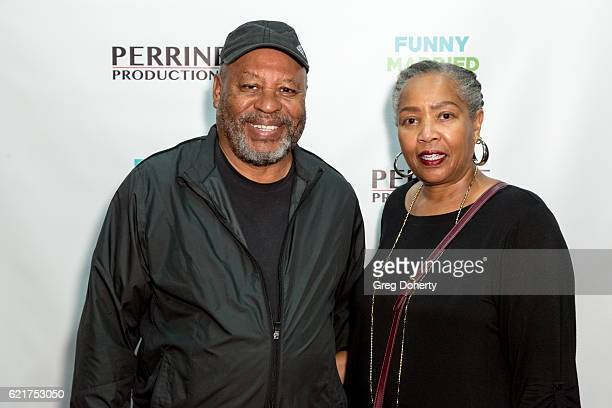 Earl and Denise Billings arrive for the Screening Of Perrine Productions' 'Funny Married Stuff' at the ACME Comedy Theatre on November 7 2016 in Los...