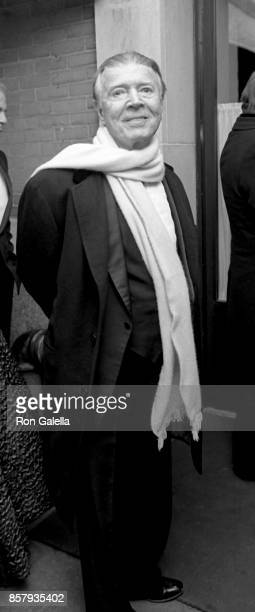 Earl Blackwell attends Mary Lasker Christmas Party on December 14 1987 at La Grenouille Restaurant in New York City