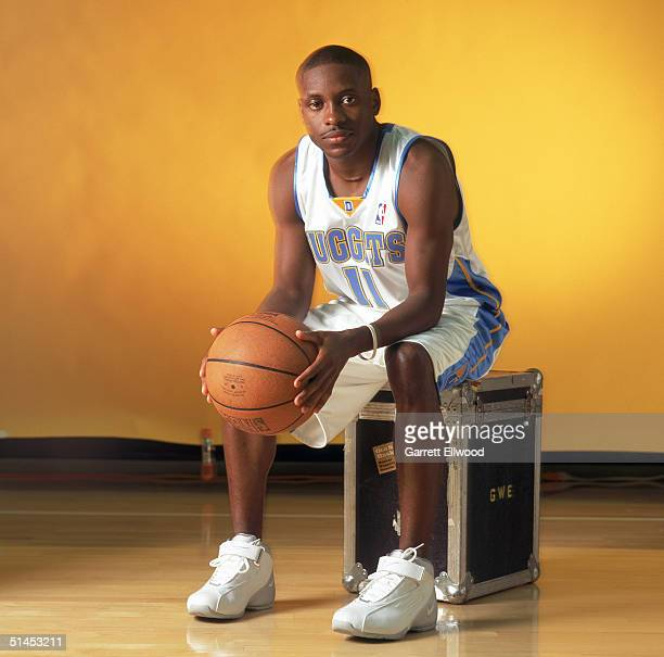 Earl Boykins of the Denver Nuggets pose for a portrait during NBA Media Day on October 4 2004 in Denver Colorado NOTE TO USER User expressly...