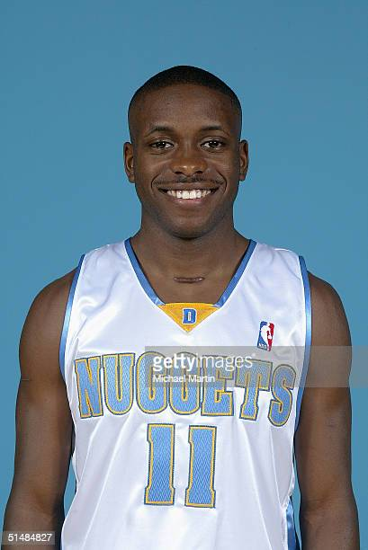 Earl Boykins of the Denver Nuggets poses for a portrait during NBA Media Day on October 4 2004 in Denver Colorado NOTE TO USER User expressly...
