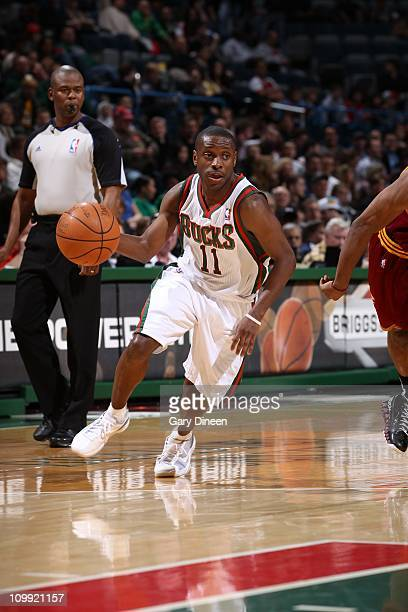 Earl Boykins of the Milwakee Bucks moves the ball against the Cleveland Cavaliers on March 9, 2011 at the Bradley Center in Milwaukee, Wisconsin....