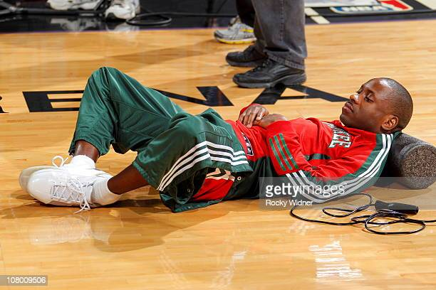 Earl Boykins of the Milwaukee Bucks gets ready to take on the Sacramento Kings on December 23 2010 at ARCO Arena in Sacramento California NOTE TO...