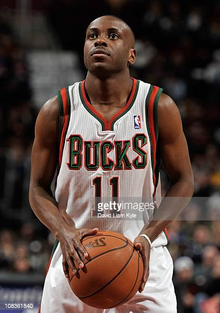 Earl Boykins of the Milwaukee Bucks shoots a free throw during a game against the Cleveland Cavaliers at The Quicken Loans Arena on January 21 2011...