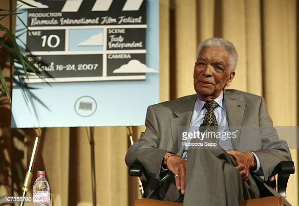 Earl Cameron during 10th Annual Bermuda International Film Festival A Conversation with Earl Cameron at Liberty Theatre in Hamilton Bermuda